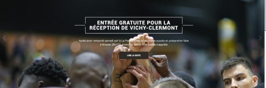 Refonte site internet ADA Blois Basket