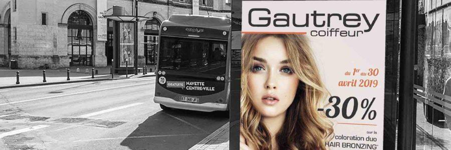 Campagne affichage > Gautrey Coiffeur